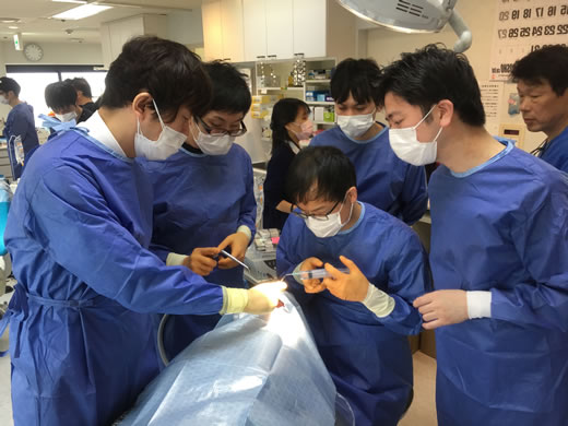 Dental implant surgery with training