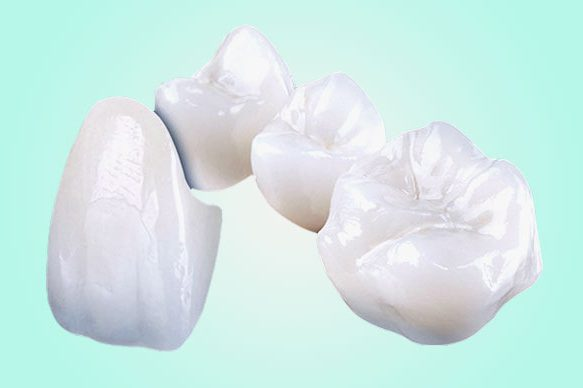 Ceramic crowns with zirconia